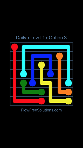 Solution and Answer to the Puzzle for Flow Date Tuesday, March 8, 2016 Level 1