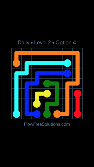 Solution and Answer to the Puzzle for Flow Date Tuesday, May 31, 2016 Level 2