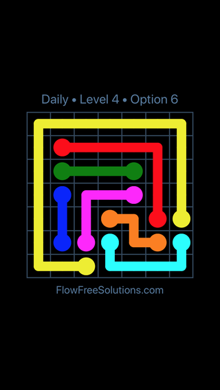 Solution and Answer to the Puzzle for Flow Date Tuesday, May 31, 2016 Level 4