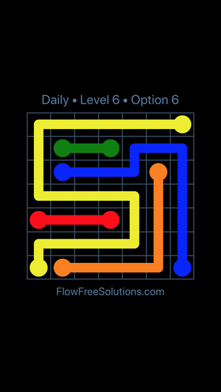 Solution and Answer to the Puzzle for Flow Date Tuesday, January 9, 2018 Level 6