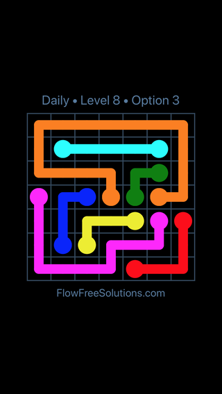Solution and Answer to the Puzzle for Flow Date Tuesday, March 8, 2016 Level 8