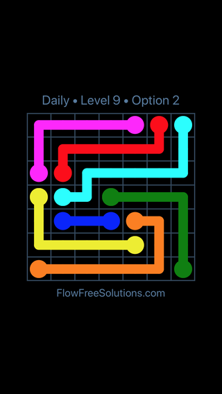 Solution and Answer to the Puzzle for Flow Date Tuesday, January 9, 2018 Level 9