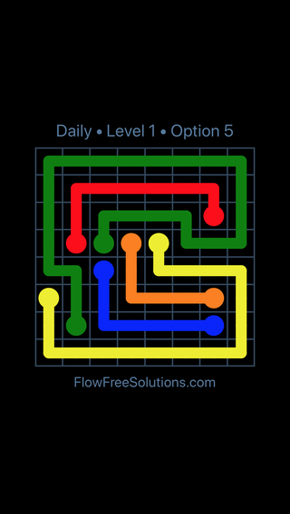 Solution and Answer to the Puzzle for Flow Date Saturday, September 7, 2019 Level 1