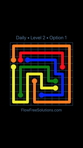 Solution and Answer to the Puzzle for Flow Date Saturday, March 26, 2016 Level 2