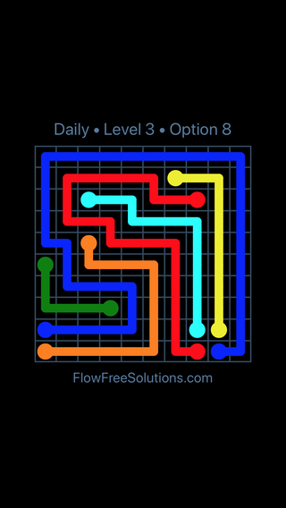 Solution and Answer to the Puzzle for Flow Date Saturday, September 7, 2019 Level 3