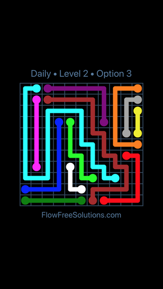 Solution and Answer to the Puzzle for Flow Date Sunday, March 27, 2016 Level 2