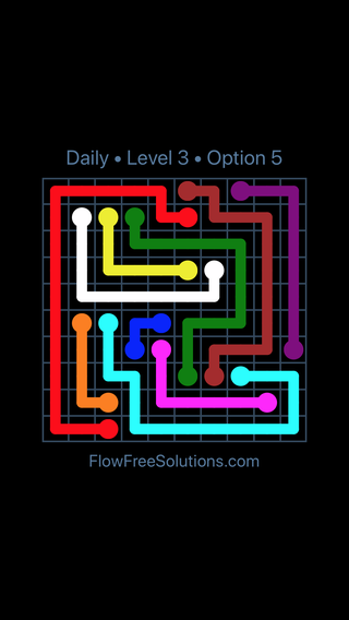 Solution and Answer to the Puzzle for Flow Date Sunday, March 27, 2016 Level 3