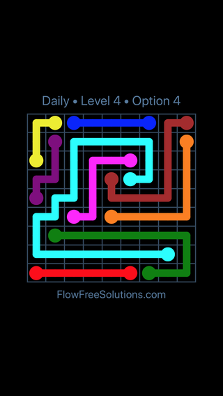 Solution and Answer to the Puzzle for Flow Date Sunday, March 27, 2016 Level 4