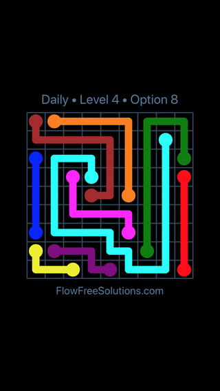 Solution and Answer to the Puzzle for Flow Date Sunday, September 8, 2019 Level 4