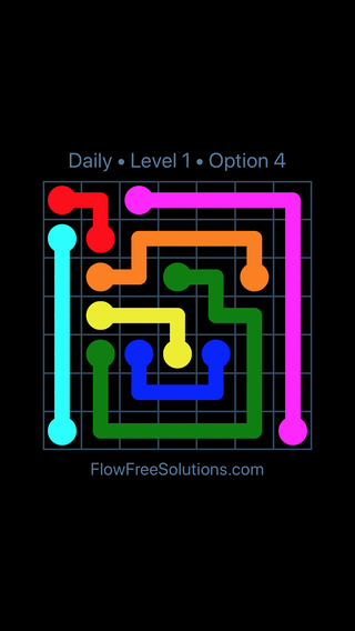 Solution and Answer to the Puzzle for Flow Date Monday, March 28, 2016 Level 1