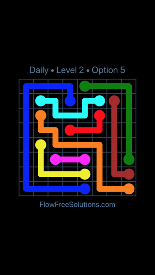 Solution and Answer to the Puzzle for Flow Date Monday, September 9, 2019 Level 2
