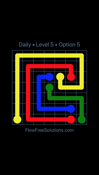 Solution and Answer to the Puzzle for Flow Date Monday, March 28, 2016 Level 5