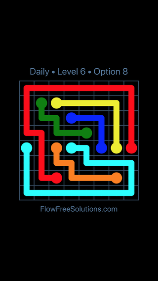 Solution and Answer to the Puzzle for Flow Date Monday, September 9, 2019 Level 6