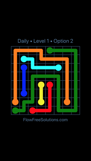 Solution and Answer to the Puzzle for Flow Date Tuesday, March 29, 2016 Level 1