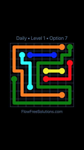 Solution and Answer to the Puzzle for Flow Date Tuesday, September 10, 2019 Level 1