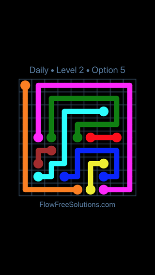Solution and Answer to the Puzzle for Flow Date Tuesday, June 21, 2016 Level 2
