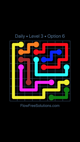 Solution and Answer to the Puzzle for Flow Date Tuesday, March 29, 2016 Level 3