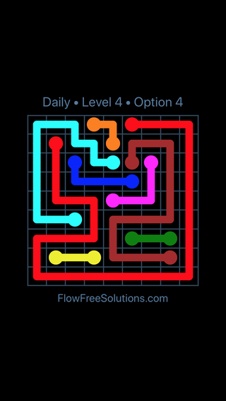 Solution and Answer to the Puzzle for Flow Date Tuesday, June 21, 2016 Level 4