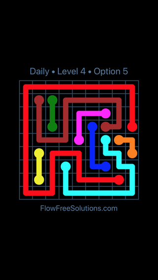 Solution and Answer to the Puzzle for Flow Date Tuesday, October 9, 2018 Level 4