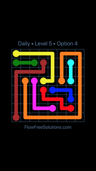Solution and Answer to the Puzzle for Flow Date Tuesday, September 10, 2019 Level 5