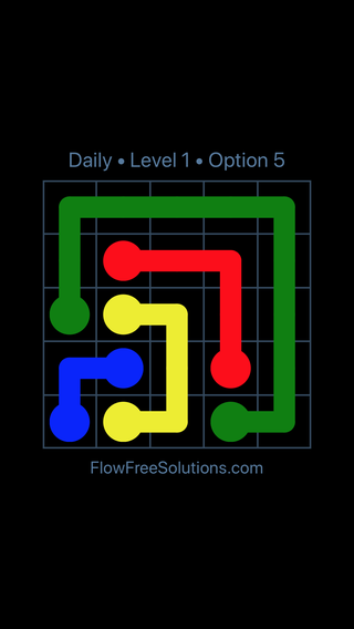 Solution and Answer to the Puzzle for Flow Date Wednesday, June 22, 2016 Level 1