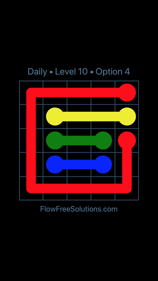 Solution and Answer to the Puzzle for Flow Date Wednesday, June 22, 2016 Level 10