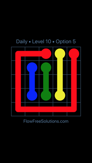 Solution and Answer to the Puzzle for Flow Date Wednesday, October 10, 2018 Level 10