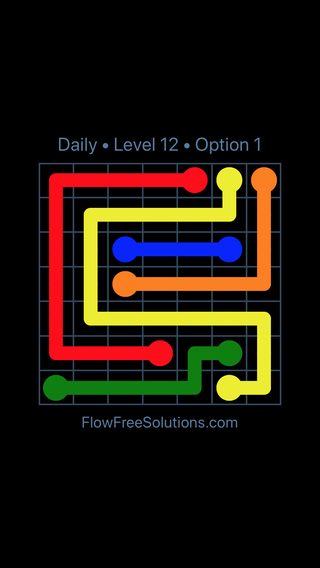 Solution and Answer to the Puzzle for Flow Date Wednesday, October 10, 2018 Level 12