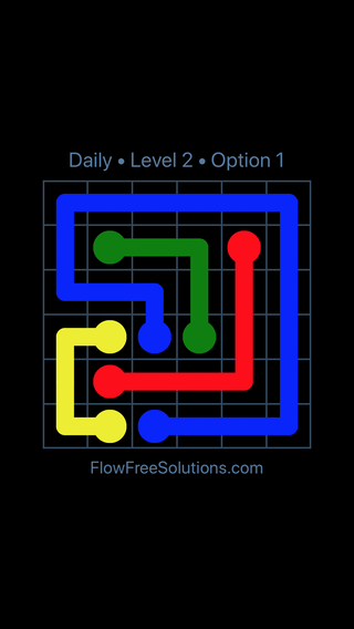 Solution and Answer to the Puzzle for Flow Date Wednesday, June 22, 2016 Level 2