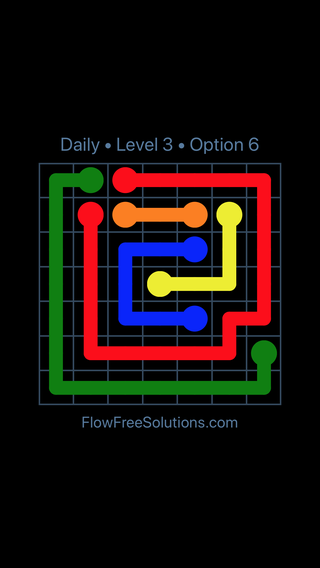 Solution and Answer to the Puzzle for Flow Date Wednesday, June 22, 2016 Level 3