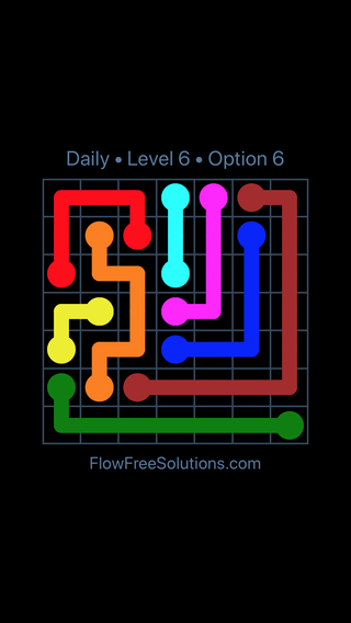 Solution and Answer to the Puzzle for Flow Date Wednesday, March 30, 2016 Level 6