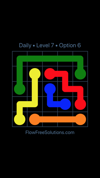 Solution and Answer to the Puzzle for Flow Date Wednesday, June 22, 2016 Level 7