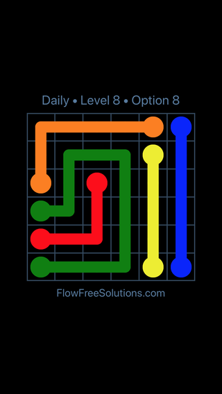 Solution and Answer to the Puzzle for Flow Date Wednesday, September 11, 2019 Level 8