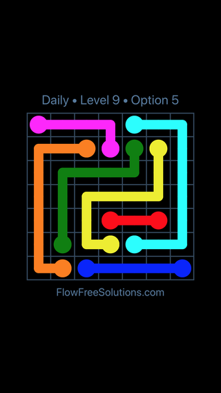 Solution and Answer to the Puzzle for Flow Date Wednesday, June 22, 2016 Level 9
