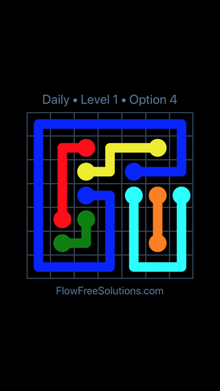 Solution and Answer to the Puzzle for Flow Date Thursday, June 23, 2016 Level 1