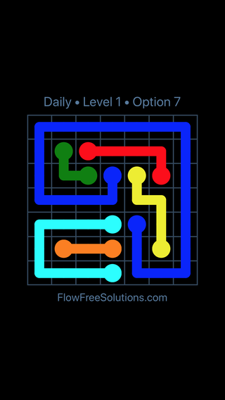 Solution and Answer to the Puzzle for Flow Date Thursday, September 12, 2019 Level 1