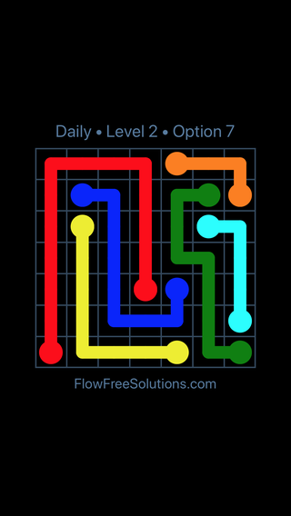 Solution and Answer to the Puzzle for Flow Date Thursday, September 12, 2019 Level 2