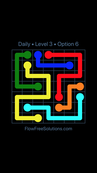 Solution and Answer to the Puzzle for Flow Date Thursday, June 23, 2016 Level 3