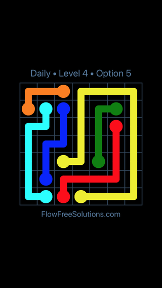 Solution and Answer to the Puzzle for Flow Date Thursday, June 23, 2016 Level 4