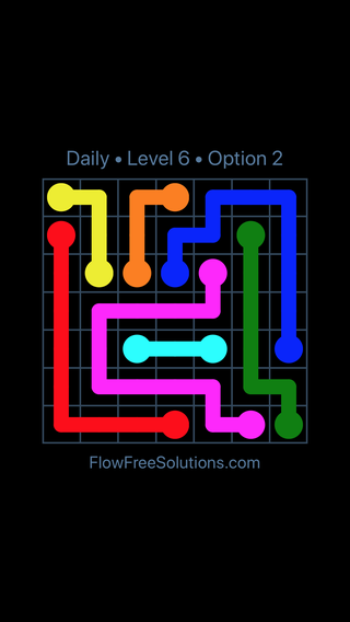 Solution and Answer to the Puzzle for Flow Date Thursday, March 31, 2016 Level 6