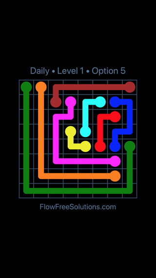 Solution and Answer to the Puzzle for Flow Date Friday, November 10, 2017 Level 1