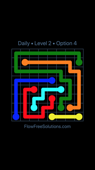 Solution and Answer to the Puzzle for Flow Date Friday, April 1, 2016 Level 2
