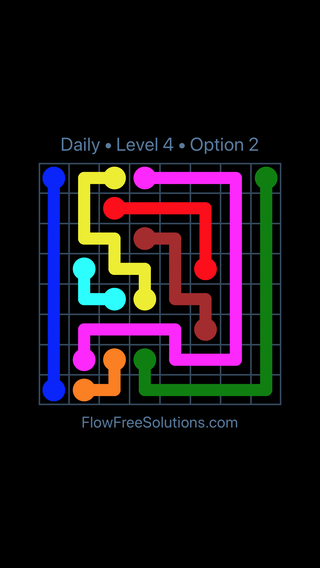 Solution and Answer to the Puzzle for Flow Date Friday, June 24, 2016 Level 4