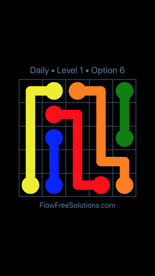 Solution and Answer to the Puzzle for Flow Date Saturday, October 13, 2018 Level 1