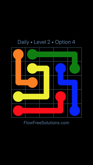Solution and Answer to the Puzzle for Flow Date Saturday, October 13, 2018 Level 2