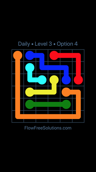 Solution and Answer to the Puzzle for Flow Date Saturday, June 25, 2016 Level 3