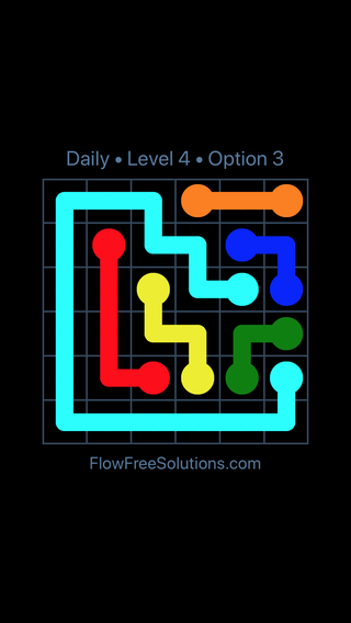 Solution and Answer to the Puzzle for Flow Date Saturday, April 2, 2016 Level 4