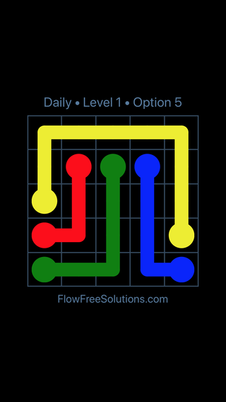 Solution and Answer to the Puzzle for Flow Date Sunday, April 3, 2016 Level 1