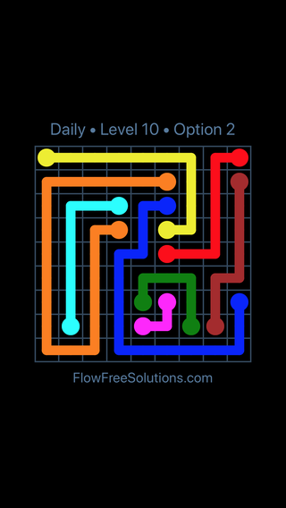 Solution and Answer to the Puzzle for Flow Date Sunday, April 3, 2016 Level 10