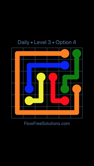 Solution and Answer to the Puzzle for Flow Date Sunday, April 3, 2016 Level 3